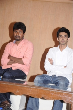 Siva Karthikeyan and Anirudh at Maan Karate film press meet