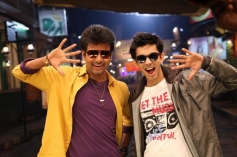 Siva Karthikeyan and Anirudh Ravichandran still from Maan Karate