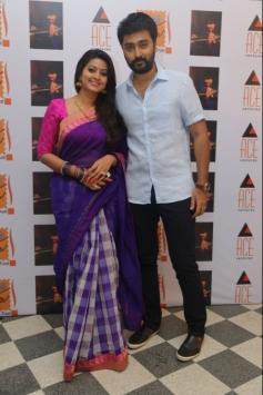 Sneha with husband Prasanna at Saga Charitable Trust event