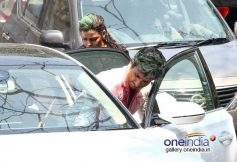 Sonu Sood leaving after having fun at Sanjay Gupta's Holi celebration