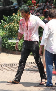 Sonu Sood at Sanjay Gupta's Holi celebration