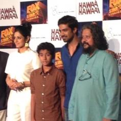 Sridevi Kapoor, Partho Gupte, Saqib Saleem and Amole Gupte at Hawaa Hawaai film trailer launch
