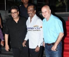 Subhash Ghai , Rajinikanth & Anupam Kher at Kochadaiyaan Movie Launch