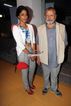 Sugandha Garg and Pankaj Kapoor at Inam film special screening