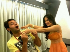 Sunny Leone having fun during her film Ragini MMS 2 promotion in Ahmedabad