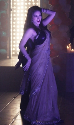 Sunny Leone performs during the film Ragini MMS 2 promotion on Pavitra Rishta sets