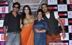 Sunny Leone with Divya Dutta, Saahil Prem and Karan Mehra at Ragini MMS 2 success bash