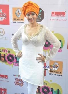 Tanisha Singh at Zoom Holi Party 2014