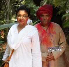 Tanushree Dutta at Shabana Azmi and Javed Akhtar's Holi celebration