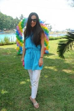 Tara Sharma Flower Petal's Holi at Breach Candy