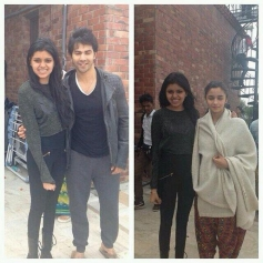 Varun Dhawan and Alia Bhatt on the sets of Humpty Sharma Ki Dulhaniya in Chandigarh