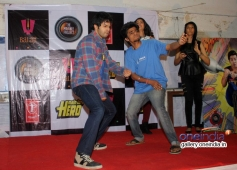 Varun Dhawan performs with a fan at Mithibai College