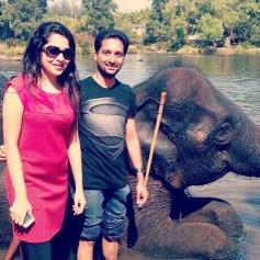 VJ Ramya with her hubby Aparajith