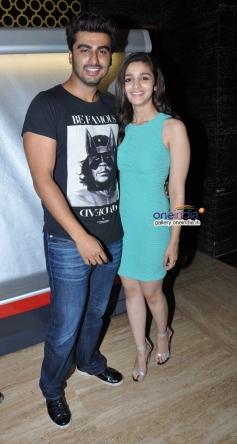 2 States stars Arjun Kapoor and Alia Bhatt at PVR Andheri
