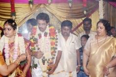 Actor Ramarajan and Nalini Son Wedding Stills