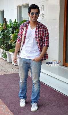 Aditya Seal during the promotion of Purani Jeans at Neel restaurant