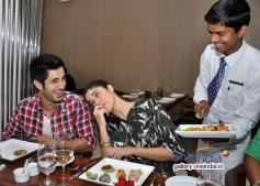 Aditya Seal and Izabelle Leite at Neel restaurant