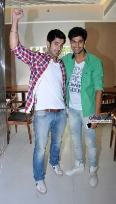 Aditya Seal and Tanuj Virwani during the promotion of Purani Jeans at Neel restaurant