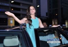 Alia Bhatt waves at PVR Andheri