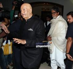 Amitabh Bachchan arrives at Prem Chopra's autobiography launch