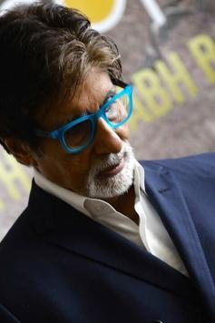 Amitabh Bachchan during the Bhoothnath Returns film premiere at Dubai