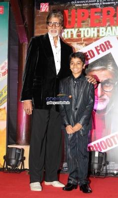 Amitabh Bachchan and Parth Bhalerao at Bhoothnath Returns success party