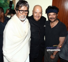 Amitabh Bachchan with Anil Kapoor at Prem Chopra's autobiography launch