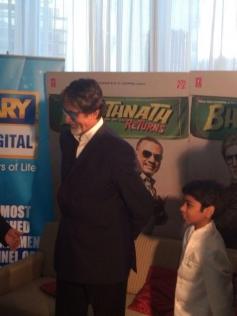Amitabh Bachchan with Parth Bhalerao at Dubai