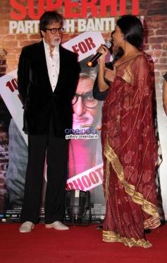 Amitabh Bachchan with Usha Jadhav at Bhoothnath Returns success party