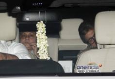 Amitabh Bachchan with wife Jaya Bachchan at Bhoothnath Returns film screening