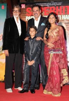 Amitabh, Boman, Usha and Parth Bhalerao at Bhoothnath Returns success party