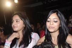 Anushka Shetty and Janani Iyer at Saivam audio launch