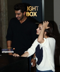 Arjun Kapoor and Alia Bhatt attends 2 States special screening at Light Box
