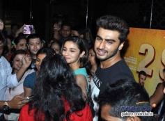 Arjun Kapoor and Alia Bhatt promote snapped at PVR Andheri