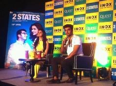 Arjun Kapoor & Alia Bhatt promote 2 States in Kolkata
