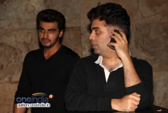 Arjun Kapoor and Karan Johar attends 2 States special screening at Light Box