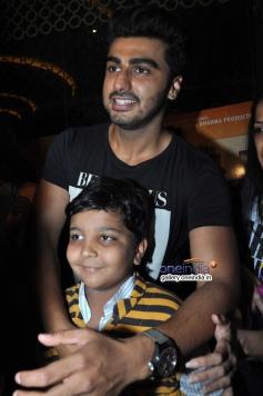 Arjun Kapoor poses with a boy at PVR Andheri