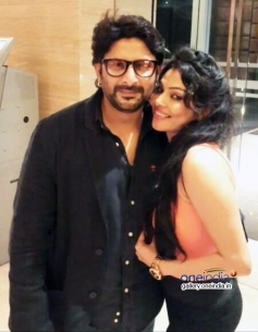 Arshad Warsi and Nikita Rawal during a photoshoot for film Roti Kapda and Romance