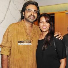 Ashutosh gGovarikar With Wife 2 States Special Screening at Yash Raj Studios