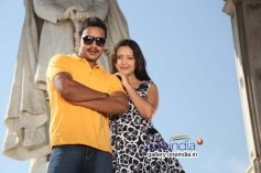 Bharat Sarja and Rekha in Kannada Movie Pulakeshi