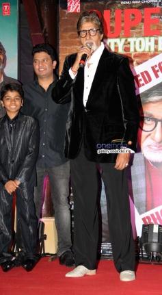Bhushan Kumar and Amitabh Bachchan at Bhoothnath Returns success party