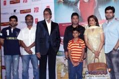 Amitabh Bachchan, Parth Bhalerao and Bhushan Kumar at Bhoothnath Returns promotion in New Delhi
