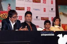 Amitabh, Bhushan Kumar and Parth Bhalerao promote Bhoothnath Returns in New Delhi