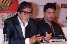 Amitabh Bachchan and Bhushan Kumar at Bhoothnath Returns promotion in New Delhi