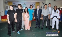 Celebs at launch of Tolpar Knife Training & unarmed combat training session