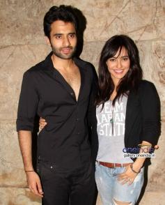 Jackky Bhagnani and Neha Sharma at Youngistaan film screening
