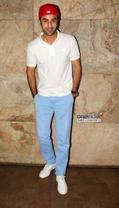 Ranbir Kapoor at Youngistaan film screening