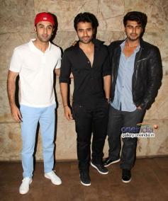 Ranbir Kapoor, Jackky Bhagnani and Arjun Kapoor at Youngistaan film screening