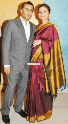 Chetan Bhagat With Wife 2 States Special Screening at Yash Raj Studios