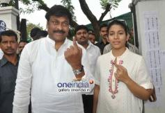 Chiranjeevi vote for Lok Sabha Election 2014